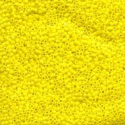 Miyuki Delica Perlen 1,6mm DB0751 Opaque matt Yellow 5gr
