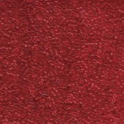 Miyuki Delica Perlen 1,6mm DB0774 Transparent Dyed matt Red 5gr