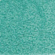 Miyuki Delica Perlen 1,6mm DB1268 transparent matt Caribbean Teal ca 5gr