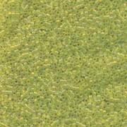 Miyuki Delica Perlen 1,6mm DB1282 transparent matt rainbow Olive ca 5gr