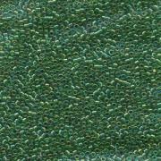 Miyuki Delica Perlen 2,2mm DBM0152 transparent rainbow Green 7,2 Gr.