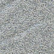 Miyuki Delica Perlen 1,6mm DB1579 Opaque Ghost Grey AB 5gr
