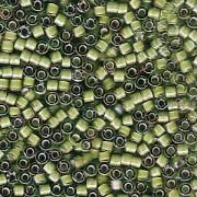 Miyuki Delica Perlen 1,6mm DB1786 White Lined light Green AB 5gr