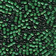 Miyuki Delica Perlen 1,6mm DB1788 White Lined Emerald AB 5gr