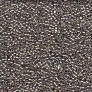 Miyuki Delica Perlen 1,6mm DB1851 Duracoat galvanized Smokey Pewter ca 7,2 Gr.
