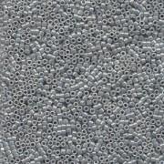 Miyuki Delica Perlen 1,6mm DB0252 opaque luster Ash Grey 5gr
