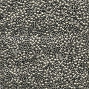 Miyuki Delica Perlen 1,6mm DB0321 metallic matte Dark Nickel Silver 5gr