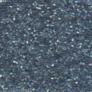 Miyuki Delica Perlen 1,6mm Hexcut DBC0111 transparent rainbow Medium Grey Blue 5gr