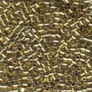Miyuki Delica Perlen 3mm DBL0034 metallic 24 Karat Hamilton Gold plated ca 6,8 Gr.