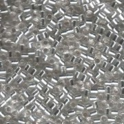 Miyuki Delica Perlen 3mm DBL0041 transparent silverlined Crystal ca 6,8 Gr.