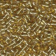Miyuki Delica Perlen 3mm DBL0042 transparent silverlined Gold ca 6,8 Gr.