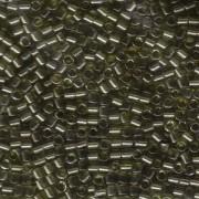 Miyuki Delica Perlen 3mm DBL0123 transparent luster Grey Olive ca 6,8 Gr.