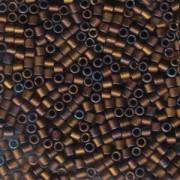 Miyuki Delica Perlen 3mm DBL0312 metallic matte Dark Copper ca 6,8 Gr.
