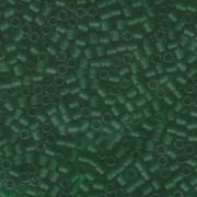 Miyuki Delica Perlen 3mm DBL0746 transparent rainbow matte Green ca 6,8 Gr.