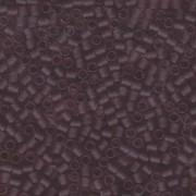 Miyuki Delica Perlen 3mm DBL0765 transparent rainbow matte Smokey Amethyst ca 6,8 Gr.