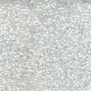 Miyuki Delica Perlen 2,2mm DBM0222 transparent Rainbow White Opal 7,2 Gr.