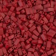 Miyuki Halb Tila Perlen 2,2x5mm matt metallic Brick Red HTL2040 ca 7,8gr