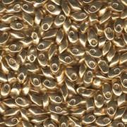 Miyuki Long Magatama Perlen 4x7mm ca8,5gr 1053 galvanized Gold