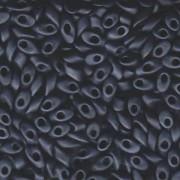 Miyuki Long Magatama Perlen 4x7mm ca8,5gr 2001 metallic matt Gunmetal