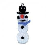 Miyuki Christmas Ornament Kit Schneemann