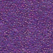 Miyuki Rocailles Perlen 1,5mm 0352 Fuchsialined luster Aqua ca 11gr