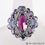 Miyuki Bead Jewelry Kit B0 89-1 Courtly Ring Amethyst