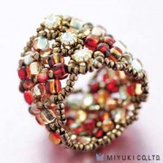 Miyuki Bead Jewelry Kit BO 102-2 Manchette Ring Red