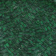 Miyuki Würfel Perlen, Cube, Square Beads 3mm 0147 transparent Emerald ca 25gr