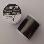 Miyuki Perlenfaden dunkelbraun 50m