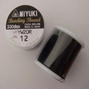 Miyuki Perlenfaden schwarz 50m