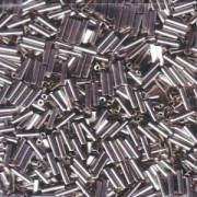 Miyuki Stäbchen Perlen Bugle Beads 3mm 0194 plated Palladium ca 10gr