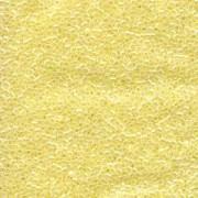 Miyuki Delica Perlen 1,6mm DB0232 crystal pale lined luster Yellow 5gr