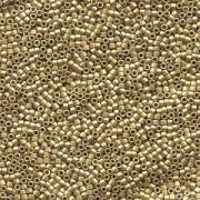 Miyuki Delica Perlen 1,6mm DB0334 matt metallic dark Yellow Gold 5gr