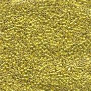 Miyuki Delica Perlen 1,6mm DB0424 dyed galvanized Dark Yellow 5gr
