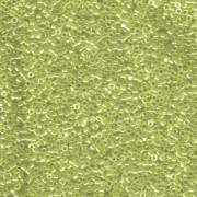 Miyuki Delica Perlen 1,6mm DB1226 transparent luster Lime ca 5gr