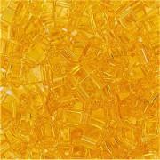 Miyuki Halb Tila Perlen 2,2x5mm transparent pale Topaz HTL0132 ca 7,8gr