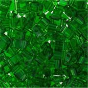 Miyuki Halb Tila Perlen 2,2x5mm transparent Green HTL0146 ca 7,8gr