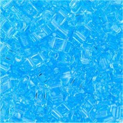 Miyuki Halb Tila Perlen 2,2x5mm transparent light Blue HTL0148 ca 7,8gr
