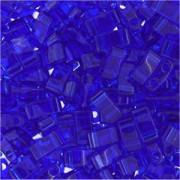 Miyuki Halb Tila Perlen 2,2x5mm transparent Cobalt HTL0151 ca 7,8gr
