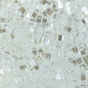 Miyuki Halb Tila Perlen 2,2x5mm Luster Crystal HTL0160 ca 7,8gr