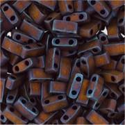 Miyuki Halb Tila Perlen 2,2x5mm matt metallic Copper HTL2005 ca 7,8gr