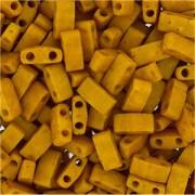 Miyuki Halb Tila Perlen 2,2x5mm Mustard HTL2312 ca 7,8gr