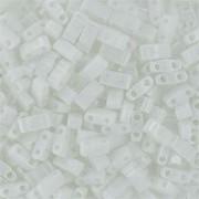 Miyuki Halb Tila Perlen 2,2x5mm opaque White HTL0402 ca 7,8gr