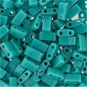 Miyuki Halb Tila Perlen 2,2x5mm opaque turquoise Green HTL0412 ca 7,8gr