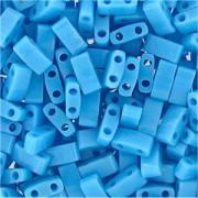 Miyuki Halb Tila Perlen 2,2x5mm opaque turquoise Blue HTL0413 ca 7,8gr