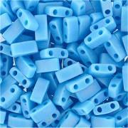 Miyuki Halb Tila Perlen 2,2x5mm opaque rainbow turquoise Blue HTL0413FR ca 7,8gr