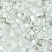 Miyuki Halb Tila Perlen 2,2x5mm Ceylon pearl White HTL0420 ca 7,8gr