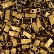 Miyuki Halb Tila Perlen 2,2x5mm metallic dark Bronze HTL0457 ca 7,8gr