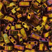 Miyuki Halb Tila Perlen 2,2x5mm rainbow metallic Gold HTL0462 ca 7,8gr