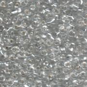 Miyuki Magatama Perlen 4mm 0001 silverlined Crystal ca 24gr